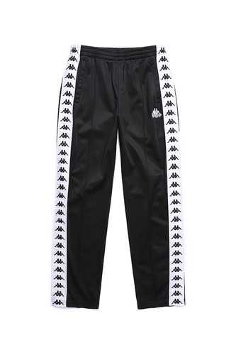 BA X KAPPA FLEECE PANTS BLACK