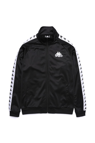 BA X KAPPA FLEECE TOP BLACK