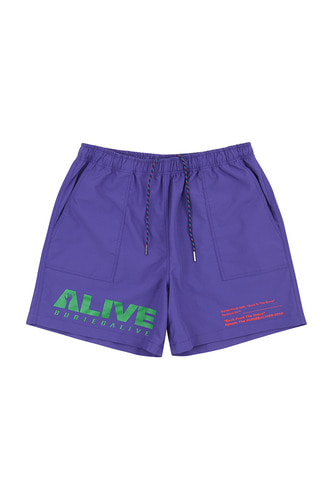 BA ALIVE LOGO SHORT PANTS PURPLE