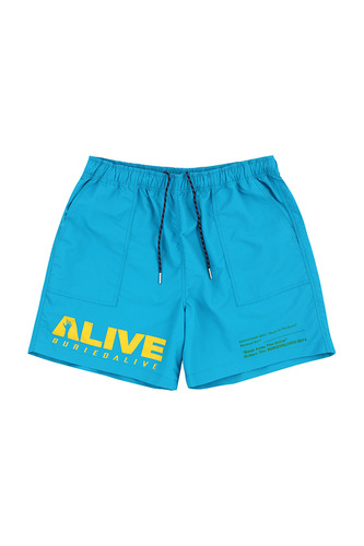 BA ALIVE LOGO SHORT PANTS BLUE