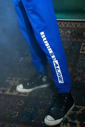 BA M SWEAT PANTS BLUE